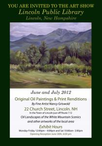 Preview Of The New Oil Painting Series Titled Power Of Place In The White Mountains By Nancy Griswold